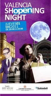 Cartel de la Valencia Shopening Night. Foto gva.es