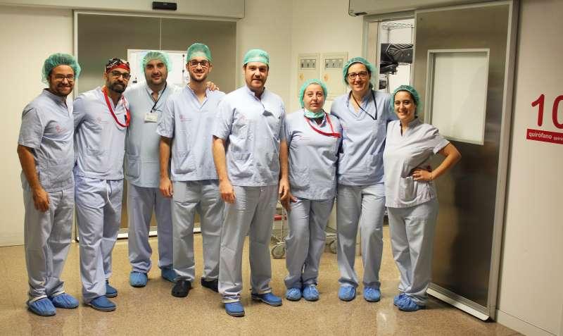Equipo de médicos del Hospital del Vinalopó. -EPDA