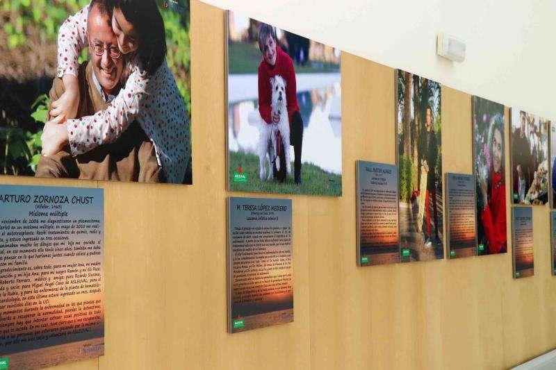 Imagen de la exposición sobre leucemia que se ha instalado en el hospital La Fe. EFE/Hospital La Fe