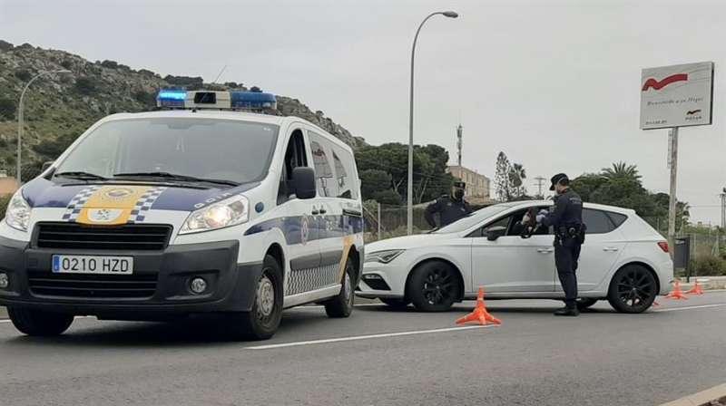 Control de la policia local de Alicante