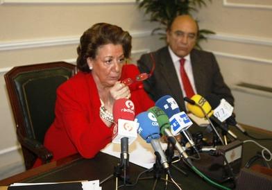 Rita Barberá valora la huelga del 29M en la ciudad de Valencia. Foto EPDA
