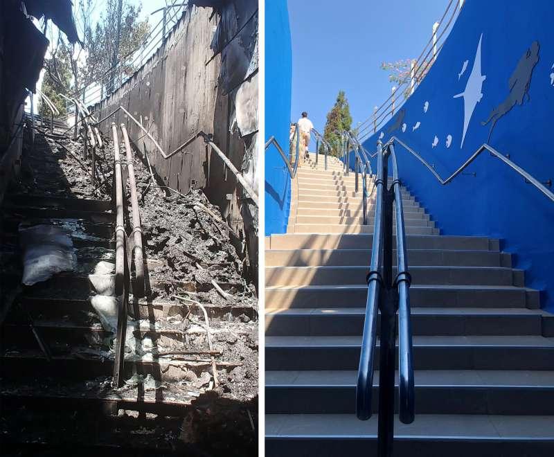 Comparativa entre los dos estados de la escalera. EPDA