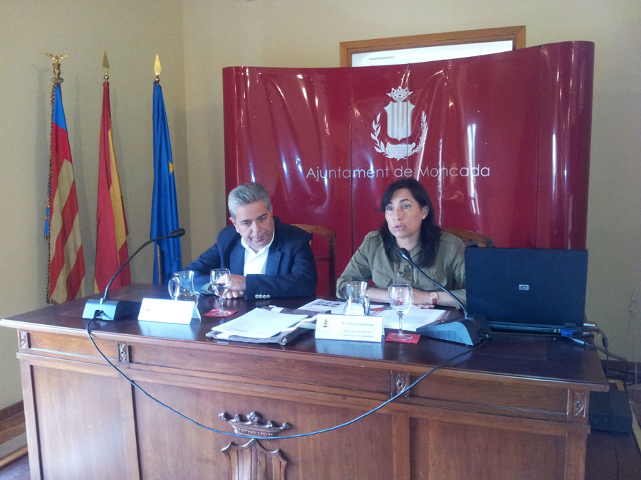 Juanjo Medina y Silvia Ordiñaga en Moncada. FOTO EPDA
