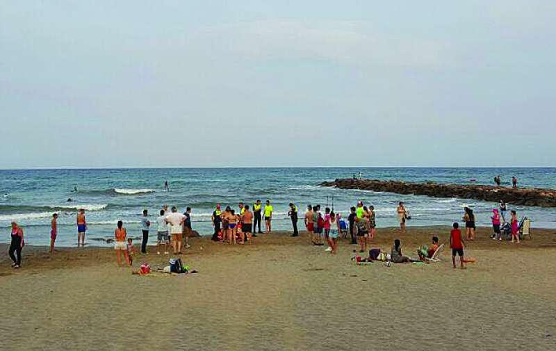 Port Saplaya en el incidente trágico de la semana pasada.