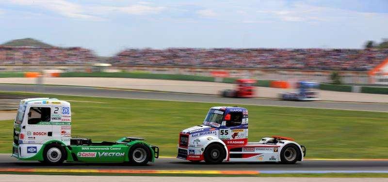 Una carrera de camiones en el Ricardo Tormo, en una imagen de este circuito.