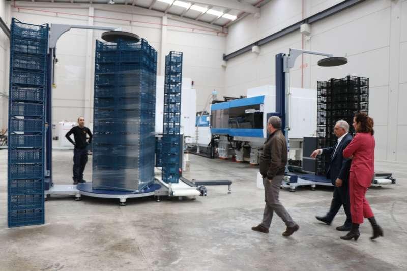 Visita del alcalde de Sagunt a las instalaciones de la empresa de Camí la Mar. EPDA