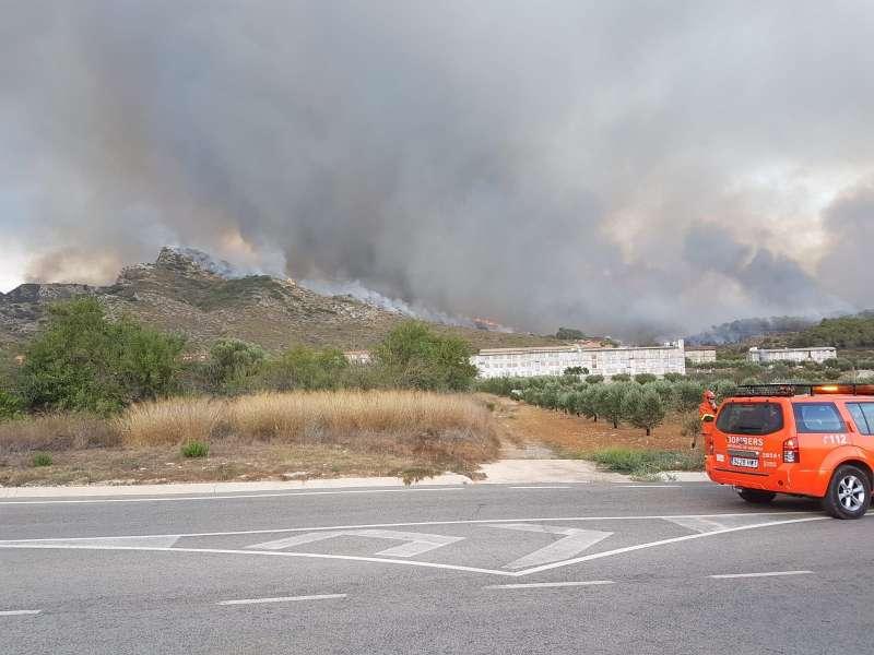 Incendio en la sierra de Lluxent. EPDA