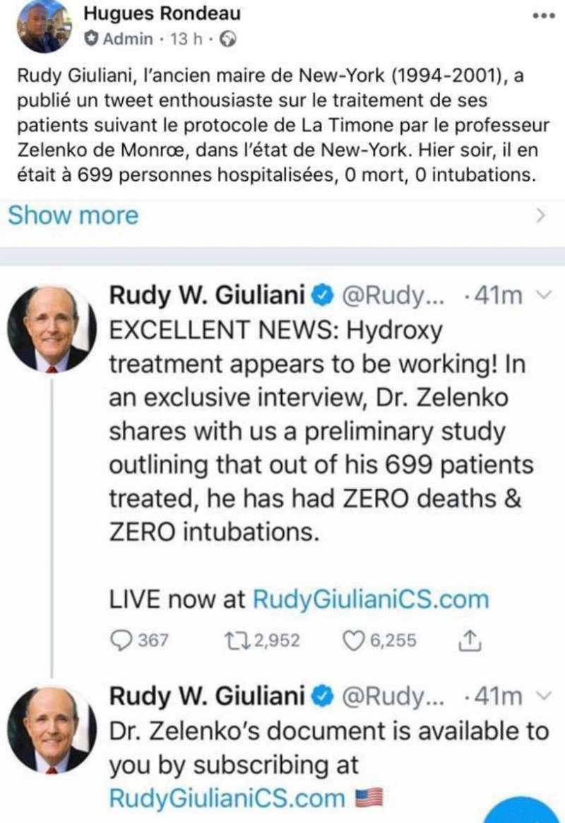 Tuit del ex alcalde de Nueva York. EPDA