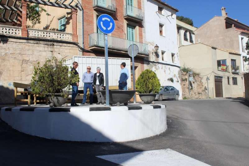 Elena-Vicente Ruiz visito las obras realizadas