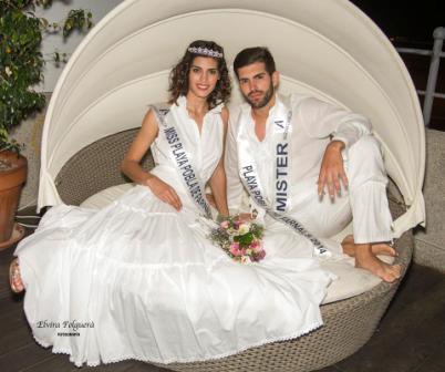 Rocío Ortiz y Julio Segura elegidos Miss & Mr. Playa Pobla de Farnals 2014. FOTO: ELVIRA FOLGUERA