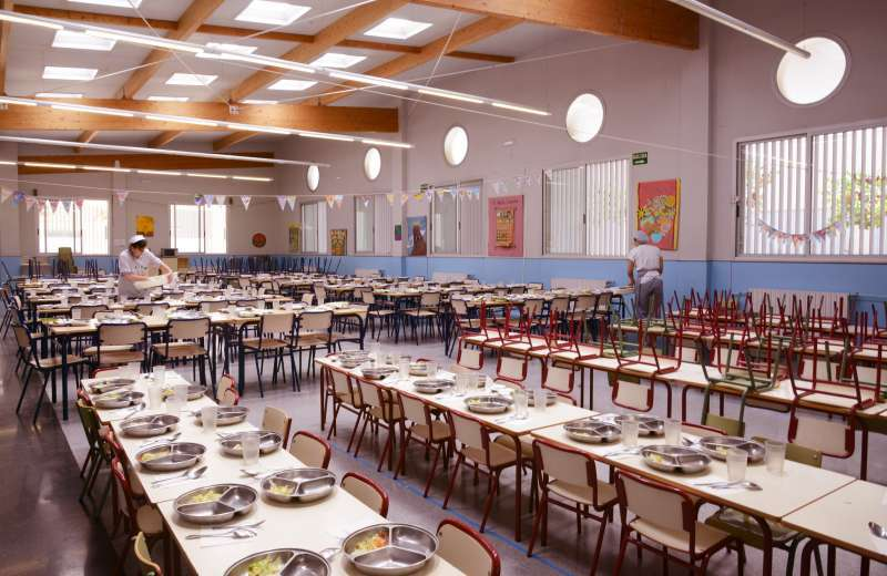 Un comedor escolar en una imagen de archivo. EPDA