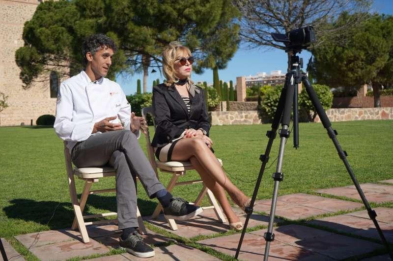 José y María Ángeles, durante la entrevista. EPDA