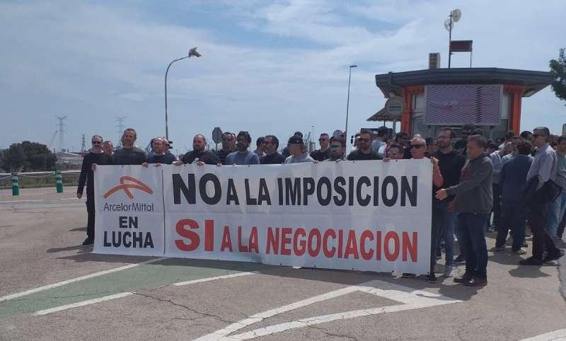 Huelga de los trabajadores de ArcelorMittal de Sagunt. EPDA