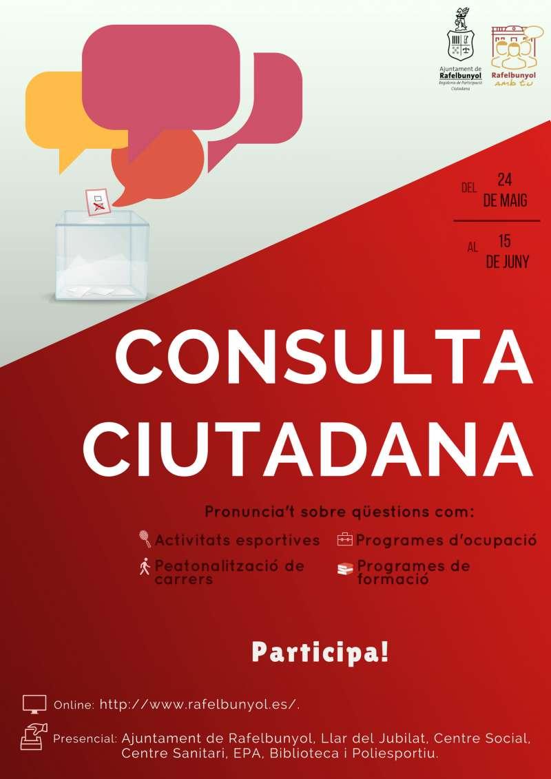 Cartel de la consulta. EPDA