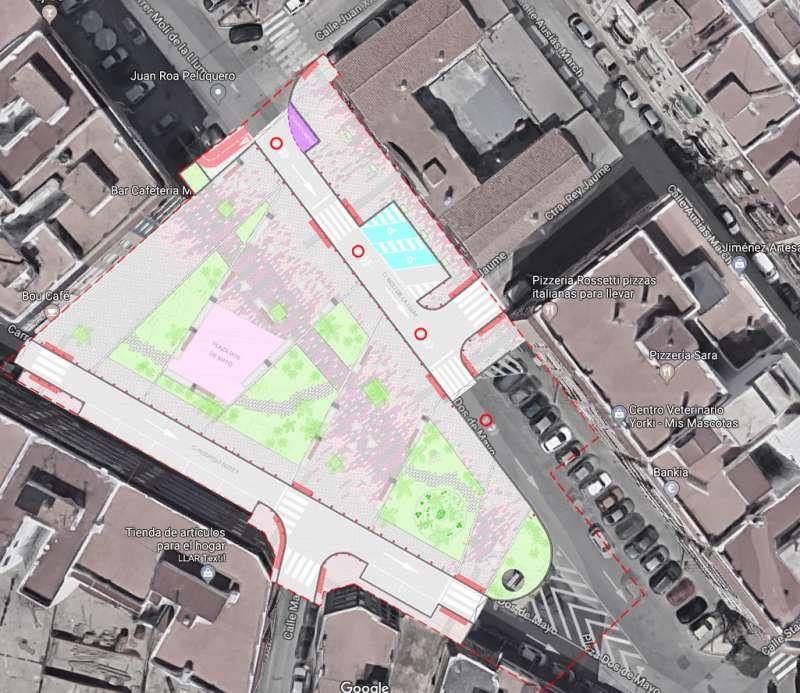 Pla urbanístic del carrer Dos de Maig