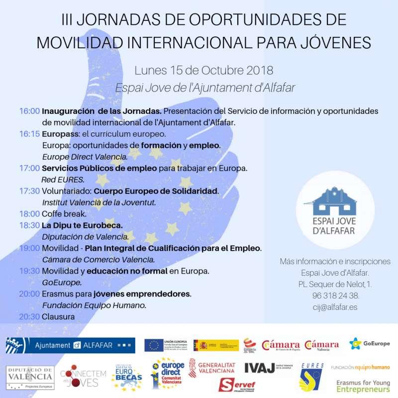 Jornadas de oportunidades de movilidad internacional para jóvenes
