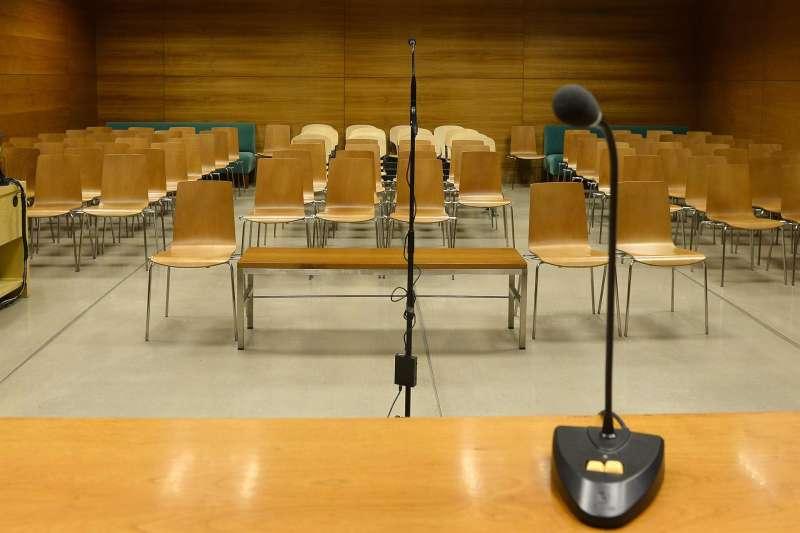 Vista de una sala de juicios
