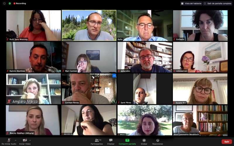 Vídeoconferència interinstitucional Europa