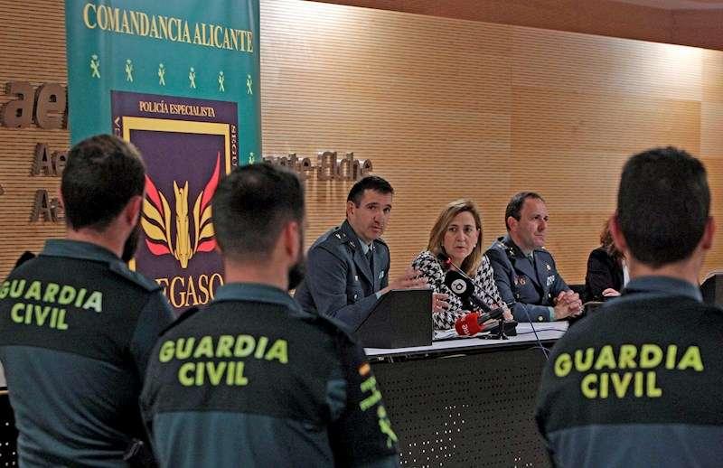 Presentación del Equipo Pegaso de la Guardia Civil, primera unidad de