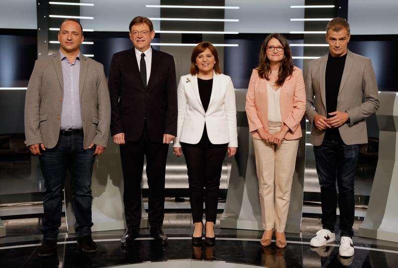 Los candidatos a la presidencia de la Generalitat Valenciana en las elecciones del próximo 28 de abril.  EFE