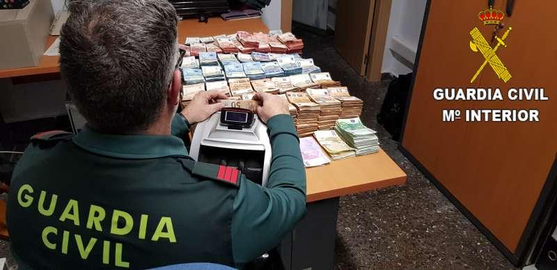Dinero requisado en Sagunt. /  EPDA