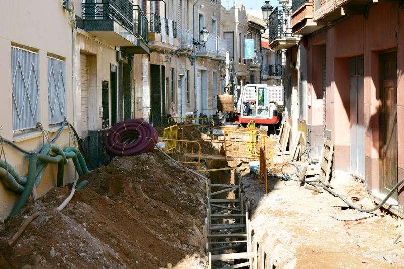 Obres iniciades al Carrer Sant Roc de Paiporta. EPDA