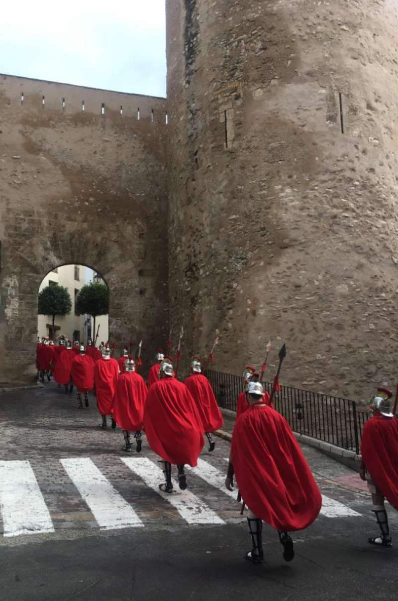 La Guardia Romana en la puerta de Teruel. Foto: MC.Calpe