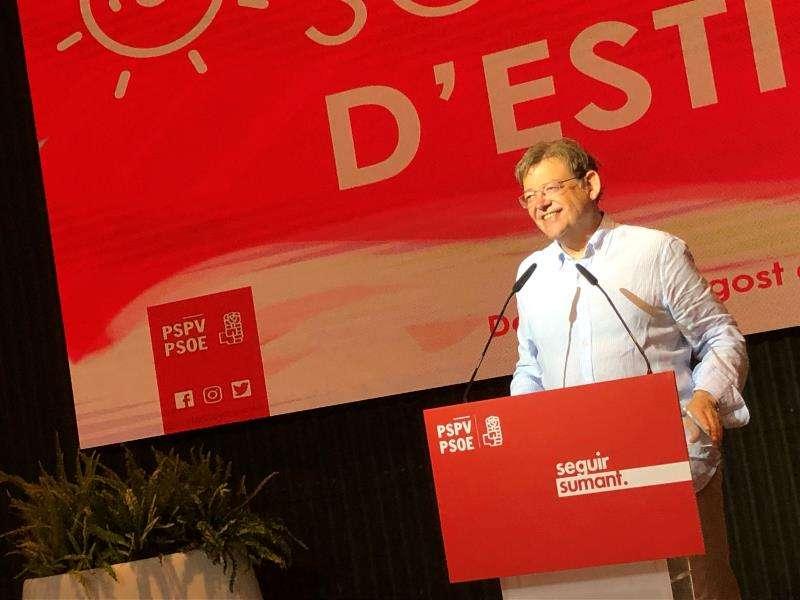El president de la Generalitat y secretario general del PSPV-PSPV, Ximo Puig. EFE/PSPV-PSOE