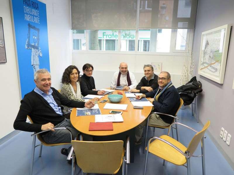 Reunió de treball entre el diputat de Cultura, Xavier Rius, i l?equip del MuVIM