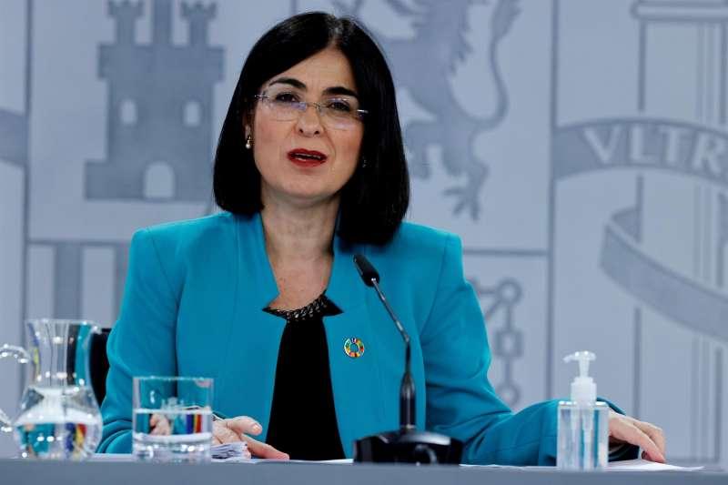 La ministra de Sanidad, Carolina Darias, ofrece una rueda de prensa al t�rmino del Consejo Interterritorial del Sistema Nacional de Salud el pasado 20 de abril. EFE/Zipi/Archivo
