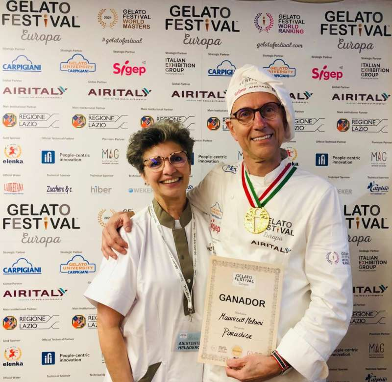Maurizio y su esposa. EPDA