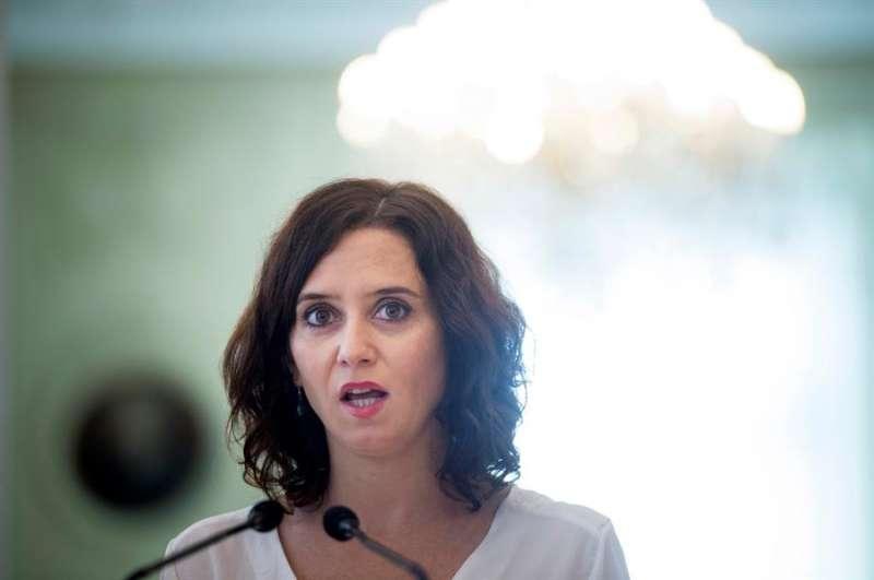 La presidenta de la Comunidad de Madrid, Isabel Díaz Ayuso. EFE/Archivo