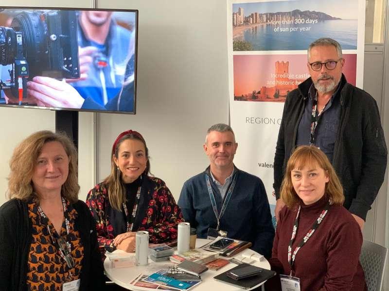 Evarist Caselles junto a representantes en el Focus London 2019. -EPDA