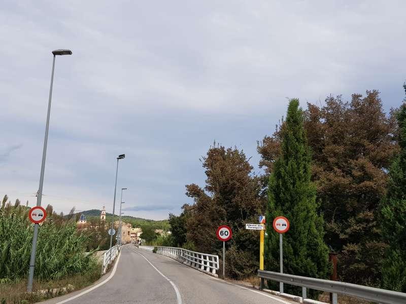 Entrada a Albalat dels Tarongers.