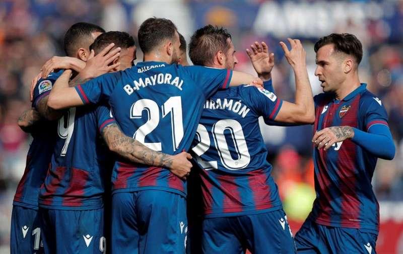 Los jugadores del Levante celebran un gol, EFE/Archivo