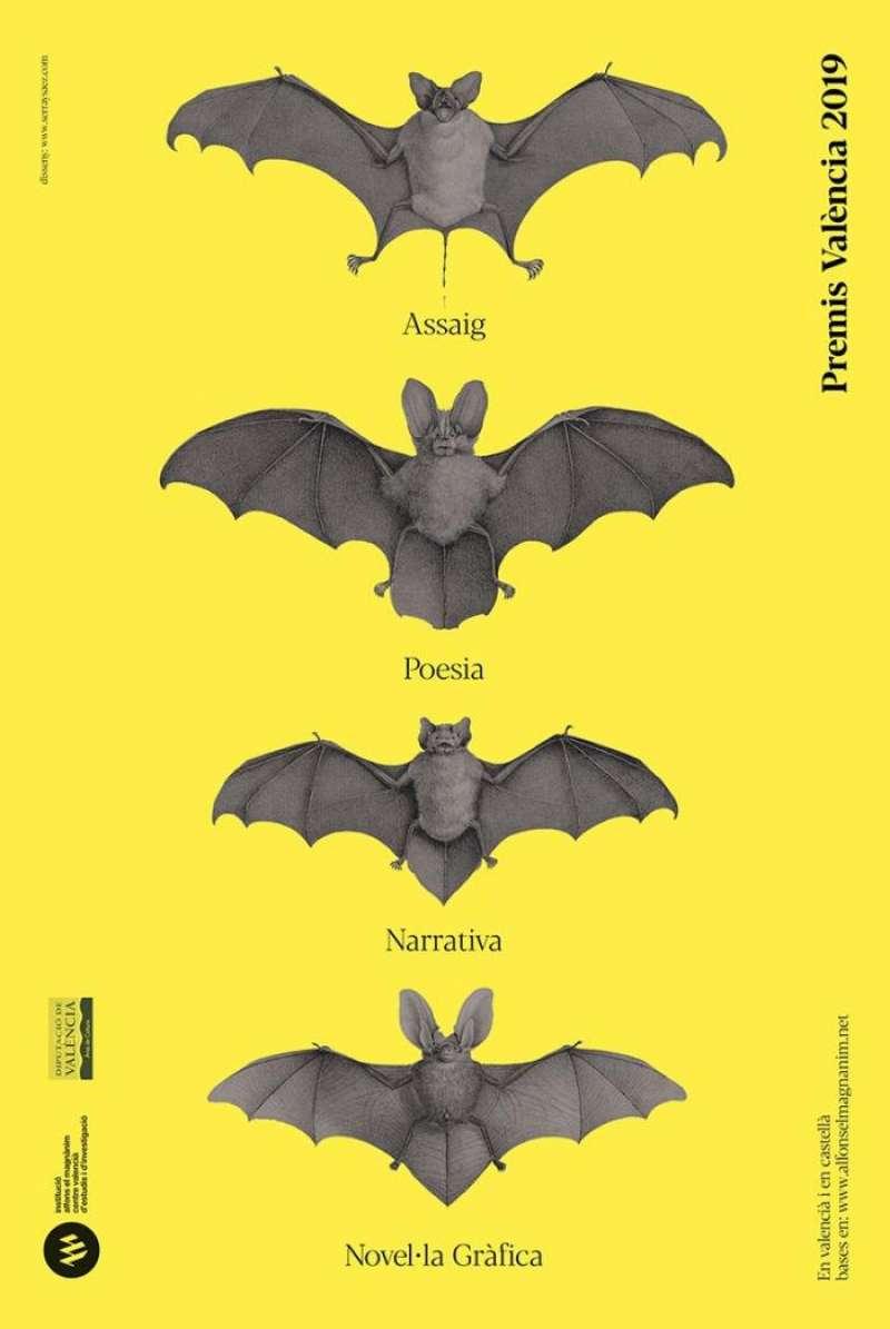 Imagen del cartel de los premios literarios. EFE/Alfons el Magnànim