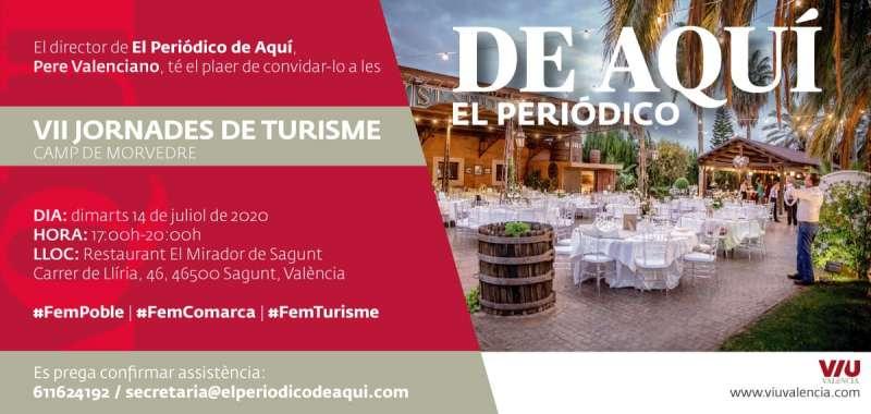 Invitación a las VII Jornadas del Camp de Morvedre de Turismo. EPDA