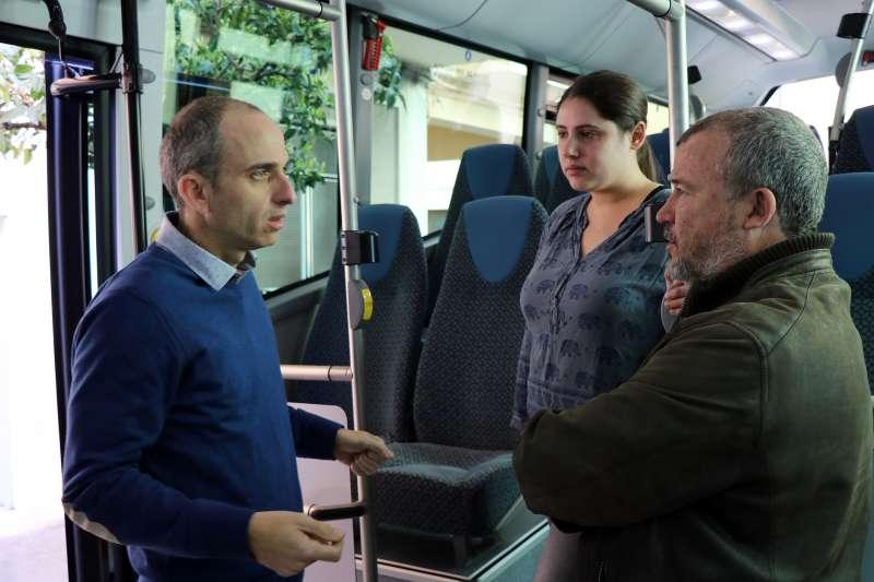 Presentación del nuevo autobús híbrido de Sagunt. EPDA