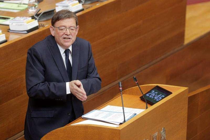 El presidente de la Generalitat, Ximo Puig, durante el pleno de su investidura. EFE/Archivo