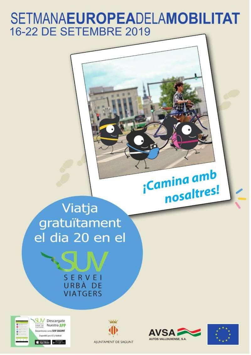 Cartel de la Semana Europea de la Movilidad. EPDA