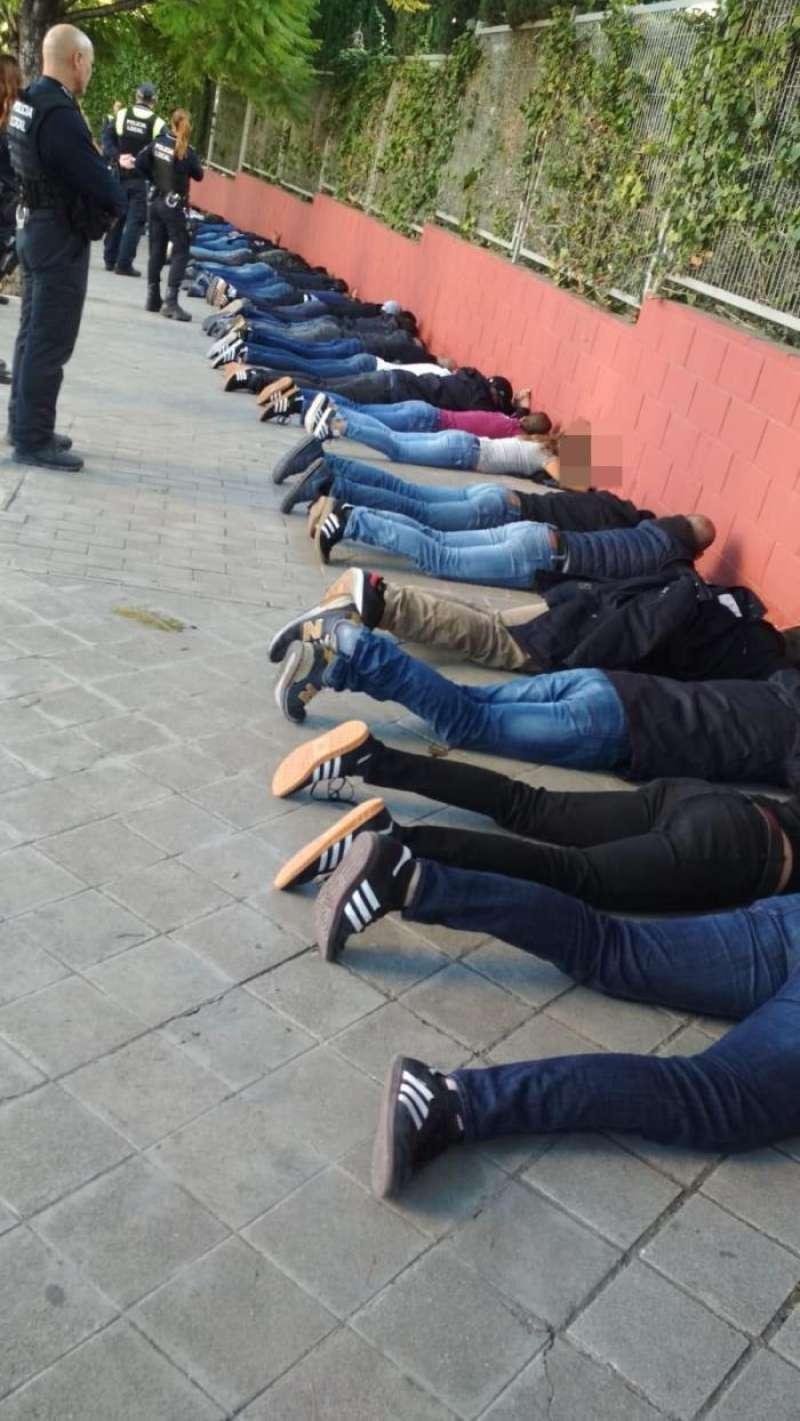 Imagen de la intervención policial facilitada por el Ayuntamiento de Alicante. EFE/Ayuntamiento Alicante