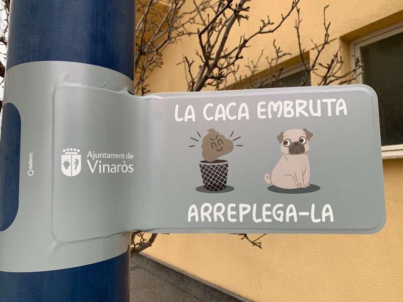 senyal informativa a Vinaròs