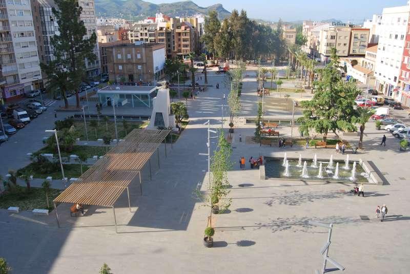 Plaza Cronista Chabret de Sagunt donde se realizarán las ollas de las fiestas. EPDA