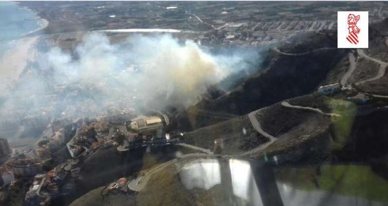 Imagen del incendio de Cullera.