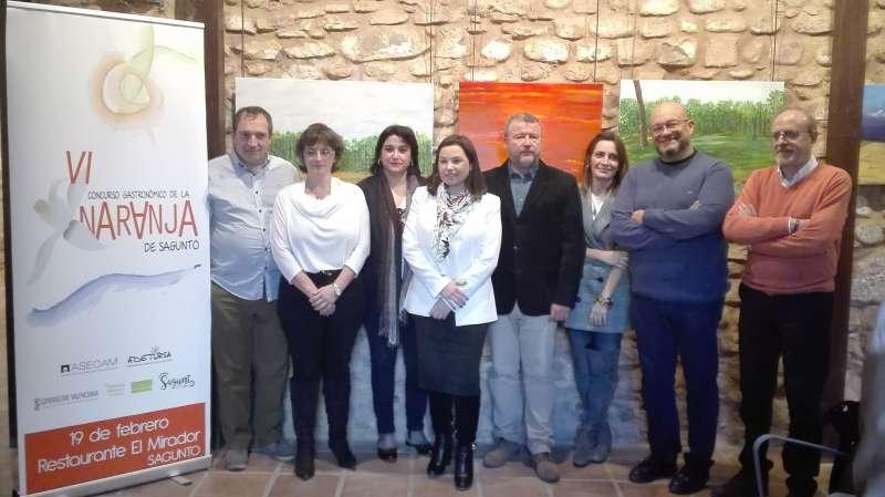 Los artífices de la puesta en marcha de la nueva edición del Concurso de la Naranja de Sagunto