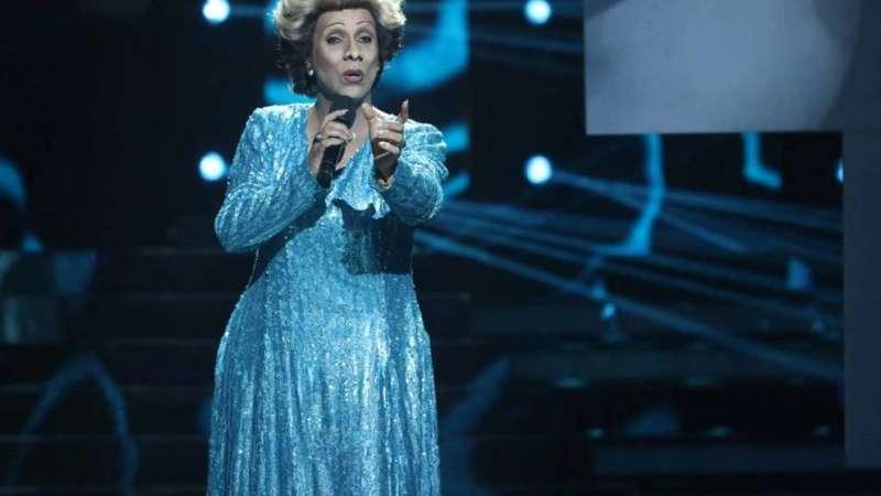 La imitación de la cantante Olga Tañón, vencedora de la 1ª gala