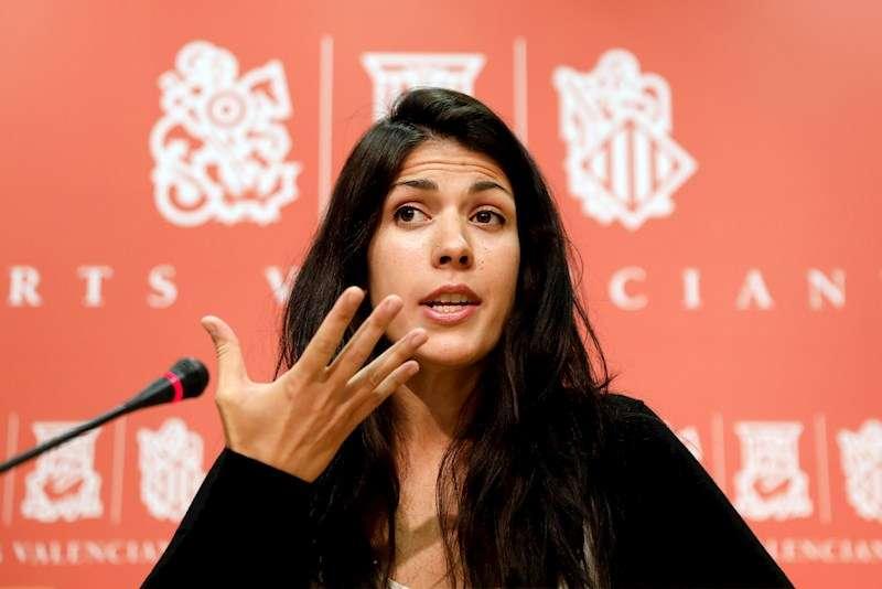 La síndica de Unides Podem en Les Corts, Naiara Davó. EFE/Juan Carlos Cárdenas/Archivo