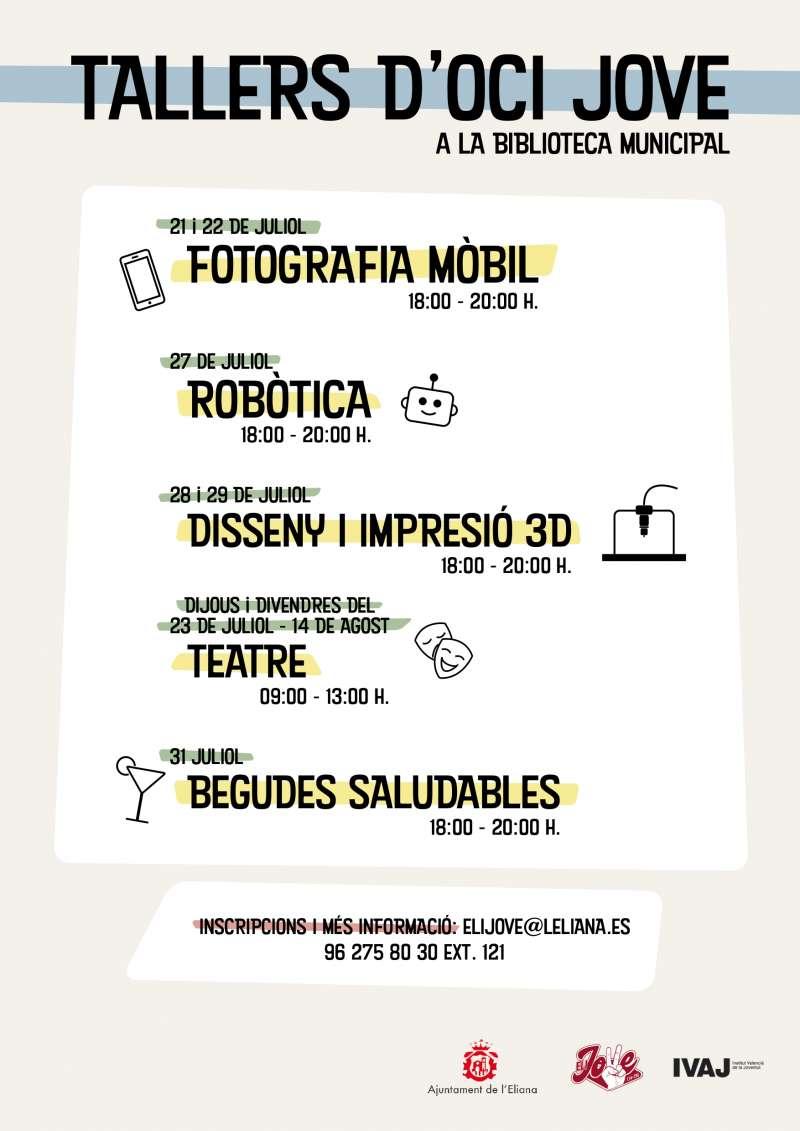 Cartell informatiu dels tallers d