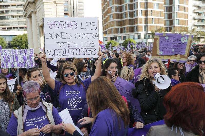 Una manifestación en València contra la violencia machista. EFE/Archivo