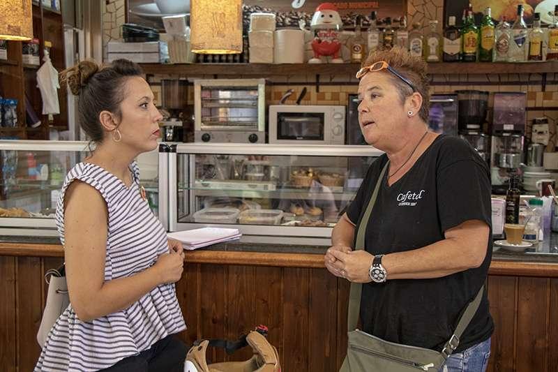 Parra visitando el Mercado Municipal del Puerto de Sagunto